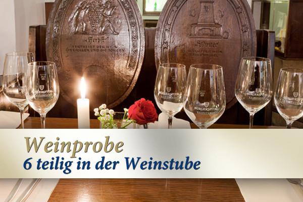 6-teilige Weinprobe Geschenkgutschein