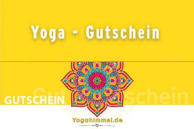 Verschiedene Yoga Gutscheine